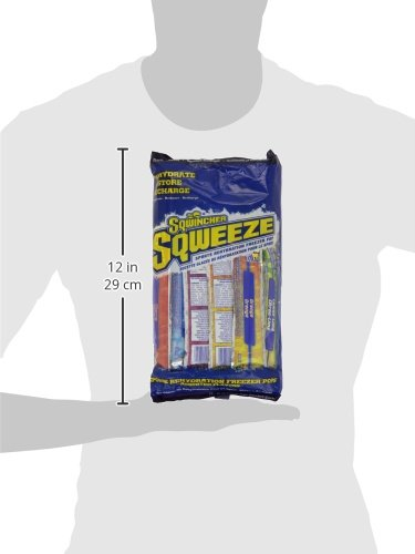 075880240068 - Sqwincher 3 oz Sqweeze Electrolyte Freezer Pop, Assorted 159200201 (15 Bags of 10) carousel main 4