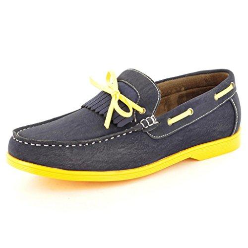 Neue Men's Casual offiziellen Smart Boat Schuhe mit Spitze, Größe Marineblau