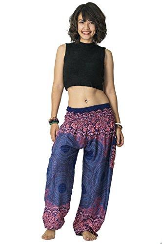 Harem Pants Unisex Geometric Mandala Harem Pants for Men & Women in -