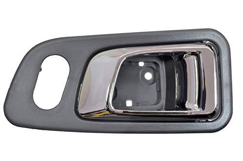 - PT Auto Warehouse HO-2701MF-FR - Interior Inner Inside Door Handle, Chrome Lever with Fern (Dark Gray) Housing - Front Right Passenger Side