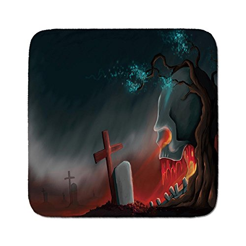 Cozy Seat Protector Pads Cushion Area Rug,Halloween,Graveyard Cemetery