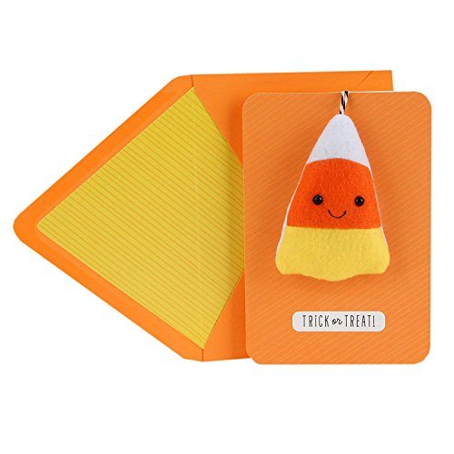 (Hallmark Signature Halloween Card for Kids (Removable Plush Candy Corn))
