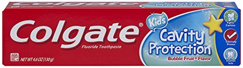 Protection Fluoride Anticavity Toothpaste (Colgate Kids Cavity Protection Toothpaste, Bubble Flavor, 4.6 Ounce)