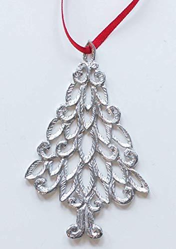 1019 Christmas Tree Ornament Pewter