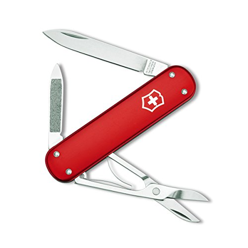 Victorinox Swiss Army Money Clip Pocket Knife, Red Alox (Pocket Clip Handy)