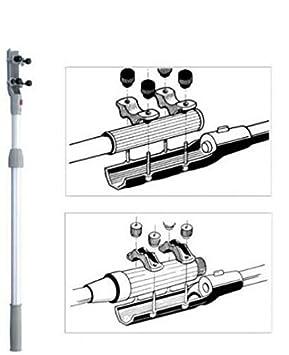 Teleskop Pinnenverl/ängerung stufenlos ausziehbar L/änge 43-64 cm