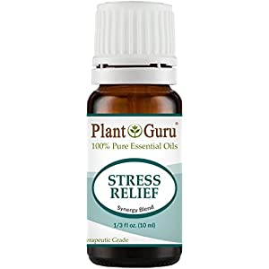 41BefhfEcFL. SS300  - Stress Relief Synergy Blend Essential Oil. 10 ml. 100% Pure, Undiluted, Therapeutic Grade. Anxiety, Depression, Relaxation, Boost Mood, Uplifting, Calming, Aromatherapy, Diffuser.