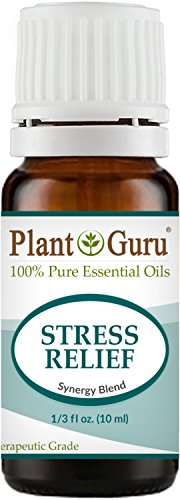 Stress Relief Synergy Blend Essential Oil 10 ml 100% Pure, Undiluted, Therapeutic Grade. Anxiety, Depression, Relaxation, Boost Mood, Uplifting, Calming, Aromatherapy, Diffuser.