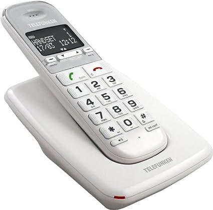 T�l�phone fixe TELEFUNKEN TD301W BLANC SOLO SANS REPONDEUR