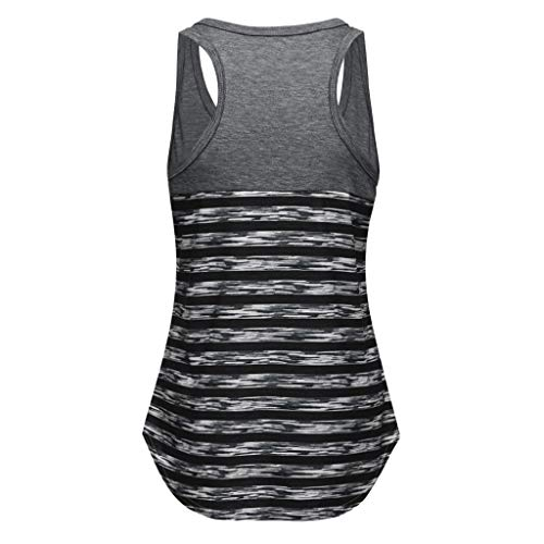 Snowlily Temperament top Women Casual Sleeveless Scoop Neck