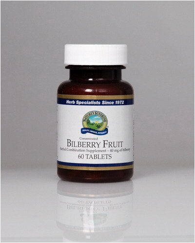 Naturessunshine Bilberry Fruit Concentrate Supports Circulatory System 40 mg 60 Tablets (Pack of 12)