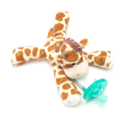 achable Silicone Pacifier Baby Gift Set Paci Clip Binky Holder Gift for Boys, Girls (Giraffe) ()