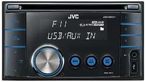 JVC KW-XR411 CD-MP3-Tuner (AUX In, USB 2.0) schwarz
