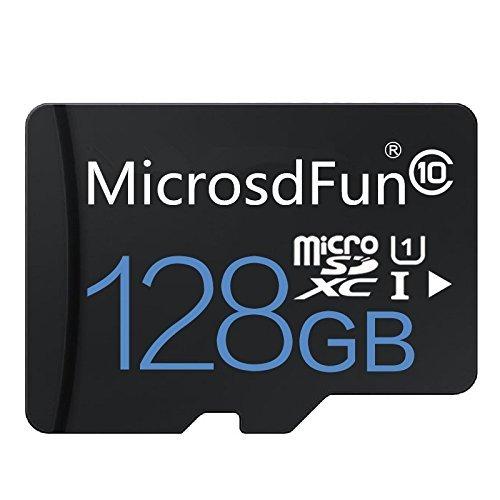 microsdfun Ultra 128GB Micro SDXC UHS-I Tarjeta Clase 10con Adaptador de Tarjetas de Memoria de Alta Velocidad TF Tarjeta (128GB, Negro)