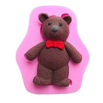 3d oso de peluche de silicona molde de fondant chocolate arcilla polimérica molde: Amazon.es: Hogar