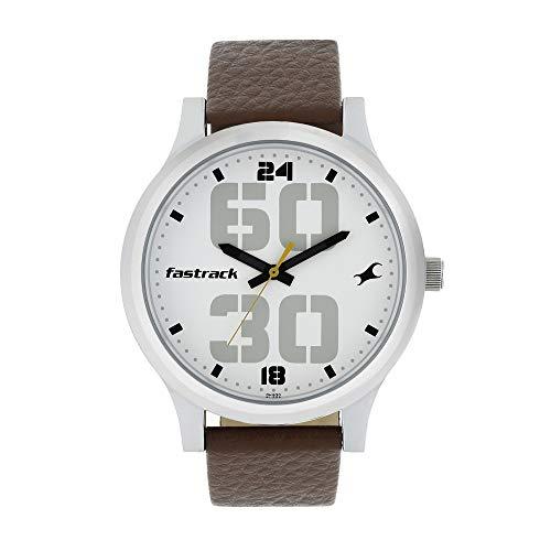 Fastrack Bold Analog White Dial Men's Watch NM38051SL06/NN38051SL06