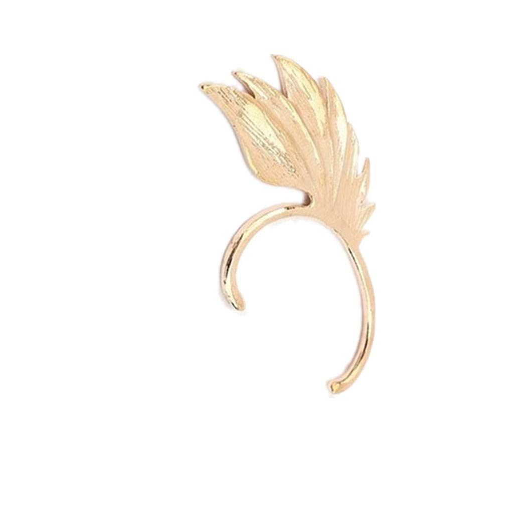 Myhouse 1 Pcs Vintage Wing Shape Ear Clip Ear Cuff for Women Girls Charm Accessories, Gold Color