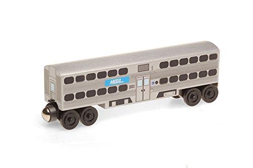 Metra Passenger Coach Wooden Toy Train by Whittle Shortline - Manufacturer