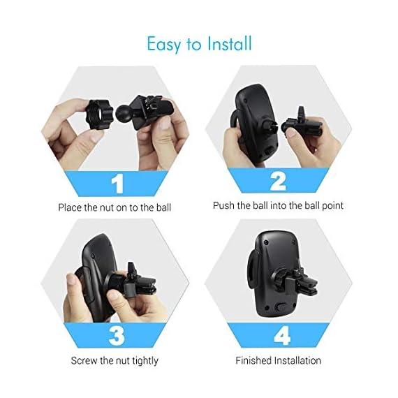 Portronics CLAMP X POR-926 Car-Vent Mobile Holder (Black) 5