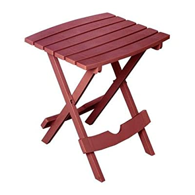 Adams Manufacturing 8510-95-3700 Quik-Fold Side Table, Merlot : Garden & Outdoor