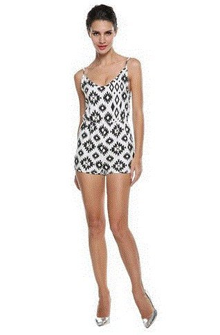 aafc84e8816e ZEARO Monos Mujer Falda Pantalon Jumper Romper Jumpsuit Blanco Negro ...