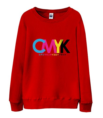 Price comparison product image Sweatshirt - CMYK Pantone Color Red X-Large