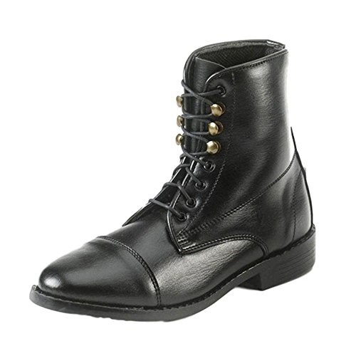 Equi-Star Ladies Synthetic Lace Paddock Boots Black, 6 Equi Star Boots