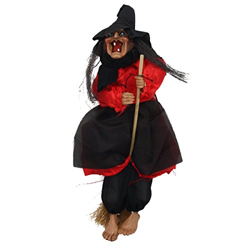 [Mochiglory Voice Activated Touch Hanging Witch Animated Horror Ghost Toys Halloween Haunted House Decor] (Scary Halloween Witches)
