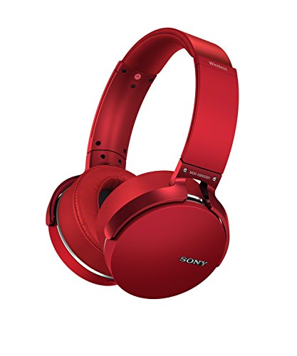 Sony XB950B1 Extra Bass Wireless Headphones with App Control, Red (2017 model) (Red Sony Camera)