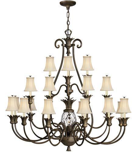 Pendants 21 Light Fixtures with Pearl Bronze Finish Cast Aluminum Material Candelabra 56