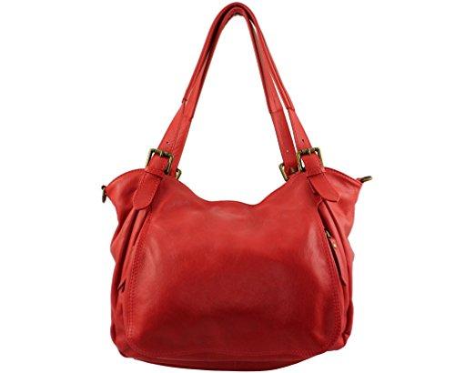Bolso Chloly Rojo Mujer De Piel Para Claro Cruzados p1qwdrp