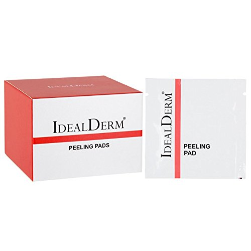 14 Fruchtsäurepeeling PADs mit AHA Lotion, mit 15% Glycolsäure 1.5% Salicylsäure ... ideal als erstes Peeling, Vorbereitung der Haut vor Anwendung chemischer Peelings, Mikrodermabrasion und Kollagen Pflegemasken. idealderm