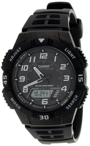 Casio Men's AQS800W-1BV Black Resin Quartz Watch with Black Dial