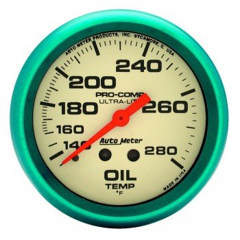 Auto Meter 4541 Ultra-Nite Oil Temperature Gauge by Auto Meter