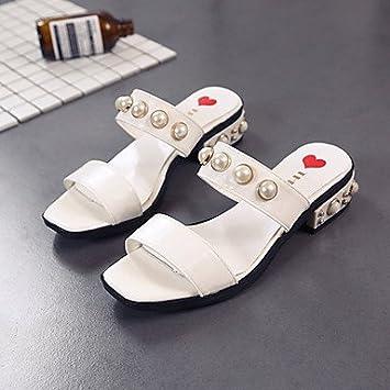 Frauen 039 s Sandalen Komfort PU Sommer Casual Comfort Raupe flachem Absatz Beige Schwarz Weiß FlatWhiteUS5.5...