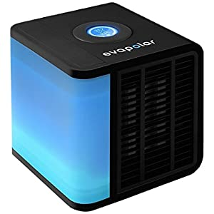 Evapolar First Nano Tech Portable Personal Air Cooler/Humidifier/Cleaner for Home and Office, Black