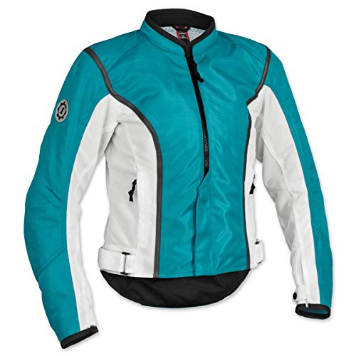 Firstgear Contour Mesh Women's Textile Motorcycle Jacket (Teal, Small) -
