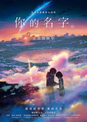 Kimi No Na Wa Your Name Chinese Imported Movie Wall Poster Print