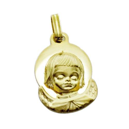 2f5790ccc Medalla de bebe angelito de la guarda de oro de 18k 85% OFF - www ...