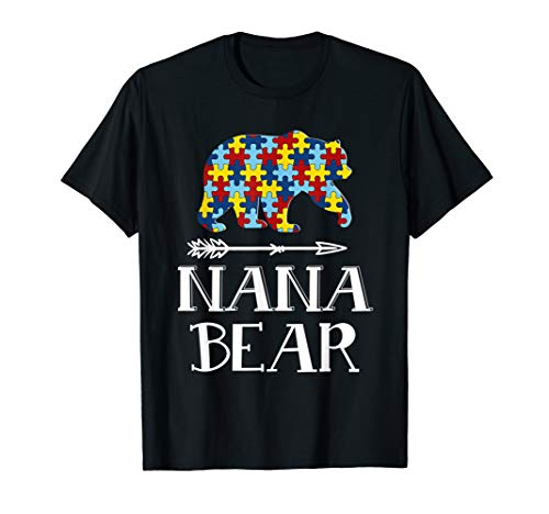 (Nana Bear Autism Awareness T-Shirt Autism Men Woman)