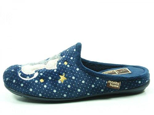 Blu Pantolette Da Donna Manitu Casa 320470-5 Blu