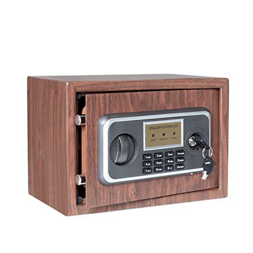 0.33 CF Digital Security Safe Box - Jssmst Lock Safe Box Wall Anchoring Design Wood Color, 0.33 Cubic Feet, WSB001