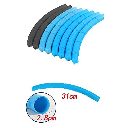 RUNSTAR Portable Blue Kids Hula Hoop Adult Child Sports Aerobics Fitness Adjustable