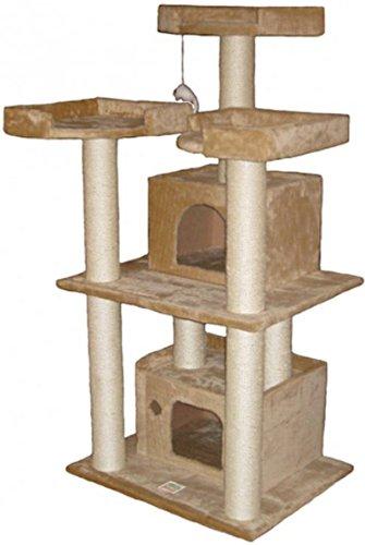 Go Pet Club 51″ Tall Beige Cat Tree Furniture, My Pet Supplies
