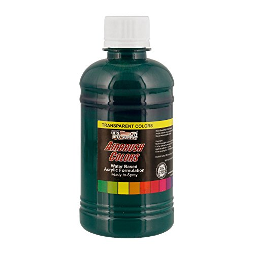 US Art Supply Phthalo Green Transparent Acrylic Airbrush Paint 8 (Transparent Phthalo Green)