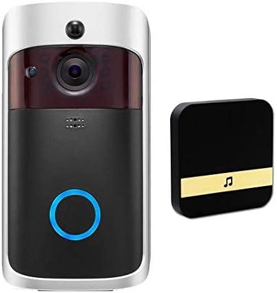 [해외]Video DoorbellChime Wireless Video Doorbell 720p HD Video PIR Motion Detection 2 Way Audio 166° Wide Angle WiFi Smart Door Bells for 안드로이드 iOS / Video DoorbellChime Wireless Video Doorbell 720p HD Video PIR Motion Detection 2...