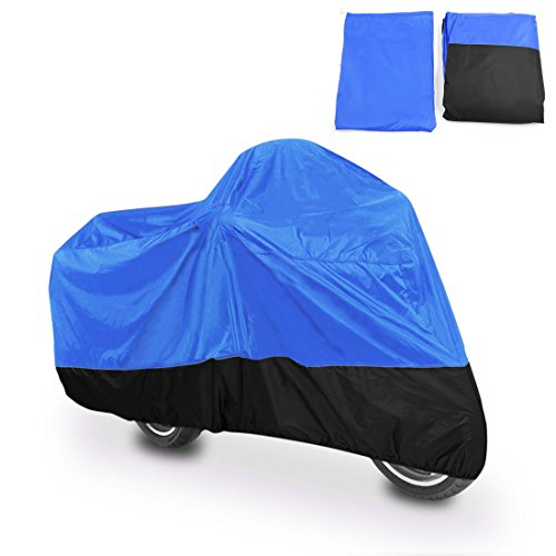 Dust Motorcycle Cover Blue&Black Outdoor UV Rainproof 104
