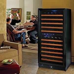 Wine Enthusiast Nu0027finity 121-bottle Wine Cellar Dual Temperature Black Trimmed Door & Amazon.com : Wine Enthusiast Nu0027finity 121-bottle Wine Cellar Dual ...
