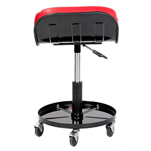 RTJ 300 lbs Capacity Pneumatic Mechanic Roller Seat Adjustable Rolling Stool, Red by RTJ (Image #2)
