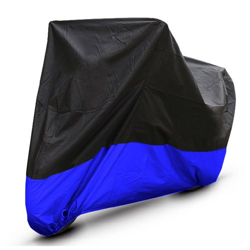 M109r Boulevard (Black Blue Motorcycle Cover For Suzuki Boulevard M109R Intruder M1800R UV Dust Prevention)